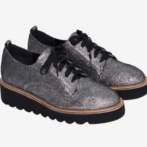 Shellys London Jack Glitter Oxford Platform Shoes